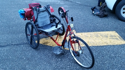 Police were able to recover a stolen bicycle, modified to aid a handicapped man, Aug. 14, 2014.