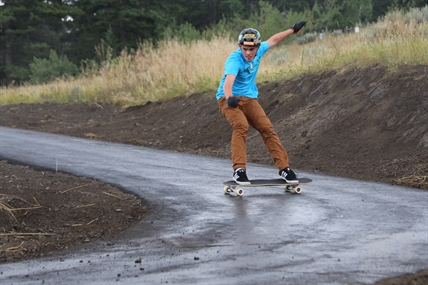 Ben, who is new to the sport this year, is enjoying the new longboard park so far.