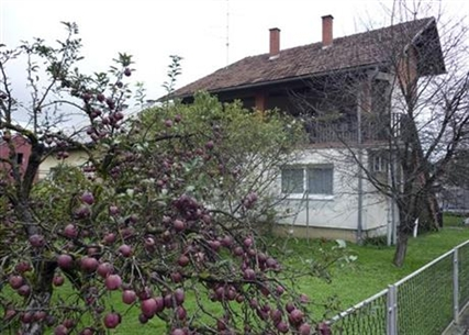The house where David Haines, the British hostage beheaded by extremists, lived with his wife and four-year-old daughter in Sisak, central Croatia, Sunday, Sept. 14, 2014.