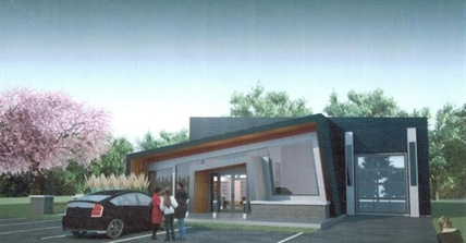 An artist's rendition of the proposed Lake Country Food Bank building.