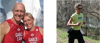 Kelowna runners say they're ok. First picture: Pat and Corrine Gable. Second picture: Liz Borrett.