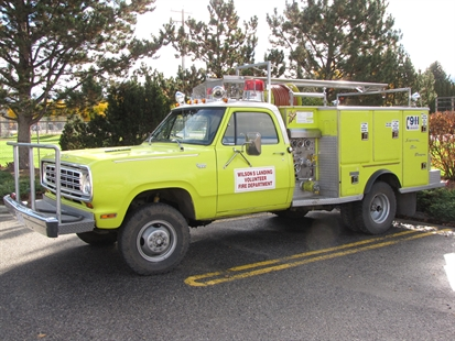 The old Wilson's Landing fire department bush truck was retired after 35 years in service.