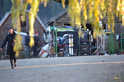 Film crews were spotted at an old farmhouse in Spallumcheen Nov. 12.