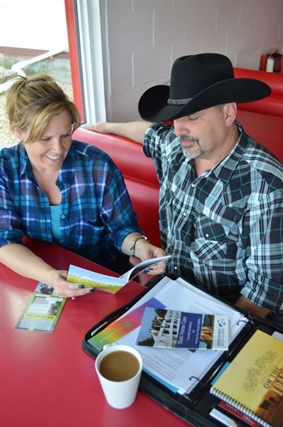 Naomi and Dean McGeachy plan to provide information from Horse Council B.C. on equestrian safety at the Chamber of Commerce.