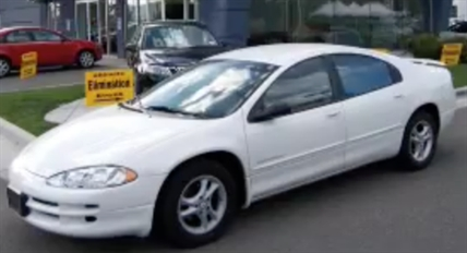 Police are looking for a car like this—a white 1998 Chrysler Intrepid—with B.C. licence plate AF765A.
