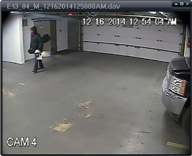 One of the three suspects sought in relation to thefts from storage lockers at Talasa apartments.