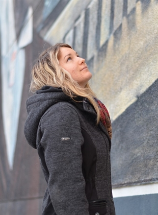Marie Anna Michaud, 19, felt compelled to help after a vandal painted obscenities on one of Vernon's heritage murals.