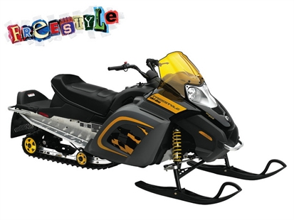 After locating a pickup truck and four sleds, Mounties are on the lookout for a 2006 Ski-Doo Freestyle 300, January 5, 2015.