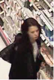 A woman caught shoplifting in a Save-On-Foods supermarket who also threatened to stab a loss prevention officer.