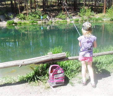 Children spent the day fishing over the weekend as the Go Fish program opened for its 7th consecutive year in Kelowna.