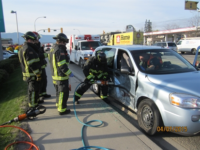 The Vernon Fire Department attended the scene of a two vehicle accident the morning of April 7.