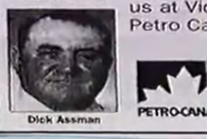 The newspaper ad that made Dick Assman famous.