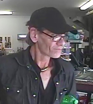 The suspect in the Eastside Grocery armed robbery is pictured in this image from the RCMP.