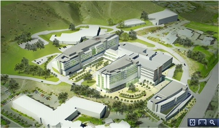 A rendering showing the preferred plan for the Royal Inland Hospital in the master site plan developed two years ago.