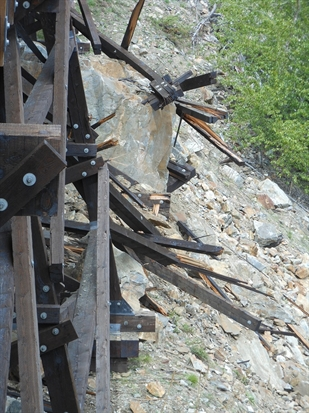 Trestle 3 sustained heavy structural damage from a rockslide earlier this year.