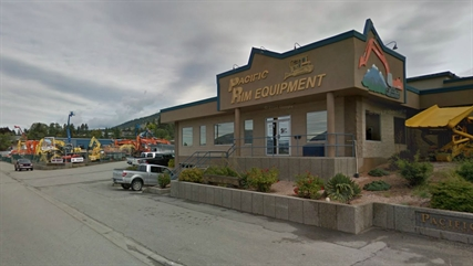 An excavator was stolen from Pacific Rim on Dartmouth Road in Penticton in May.