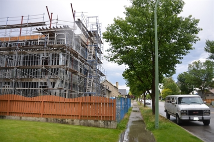 At 598 Sutherland Avenue Vant Construction is building 16 new rental apartments, something the City sees necessary to modernize Kelowna's urban core.