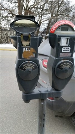 The clock faces from over 72 parking meters were pulled out during a recent vandalism spree in Vernon.