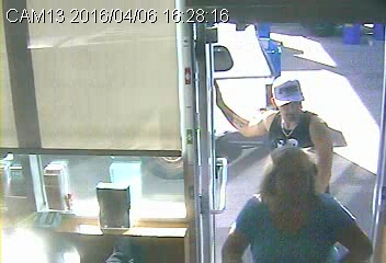 RCMP are looking to speak to this man about counterfeit bills used at a Kamloops gas station.