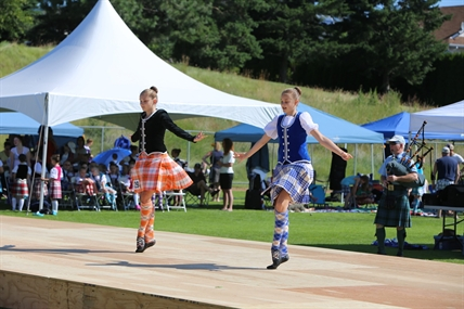 Highland dancers compete at the Kamloops Highland Games on Saturday.