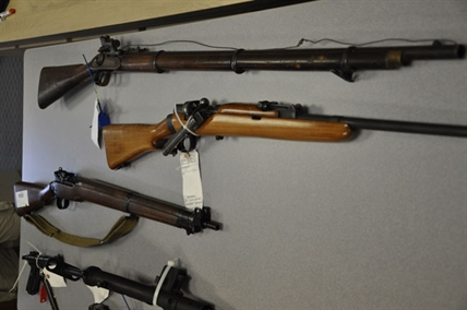 An assortment of the weapons collected during a firearms amnesty.