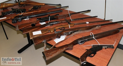 More than 30 guns were accepted by Penticton RCMP during June's gun amnesty period.