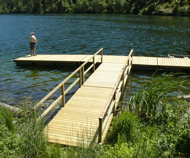 The new dock on Yellow Lake will be enjoyed by anglers from Penticton and Keremeos all year round.