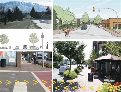 Art work of the Brown Road streetscape from the consultant's report.