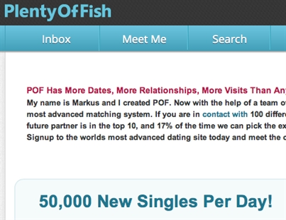 Plenty Of Fish Hookup Sign Up