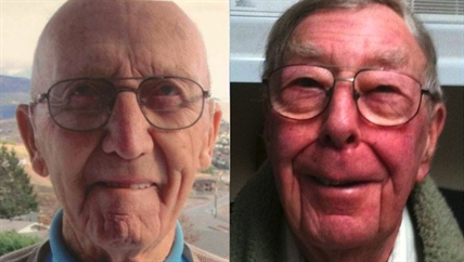 John Furman, 95, (left) the accused killer, and William May, 85, the deceased.