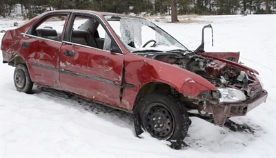 An abandoned car found at Tree Flats, Dec. 13, 2012.