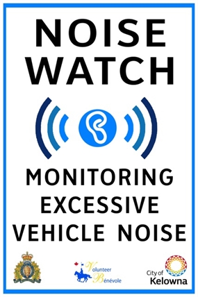 "The new ""Noise Watch"" sign."