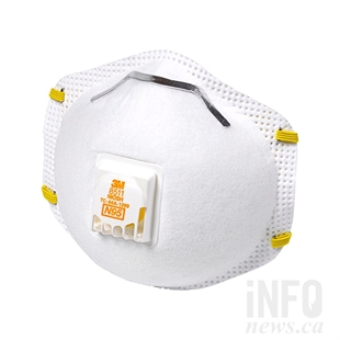 A properly fitted N95 respirator mask is recommended to keep out fine particles.
