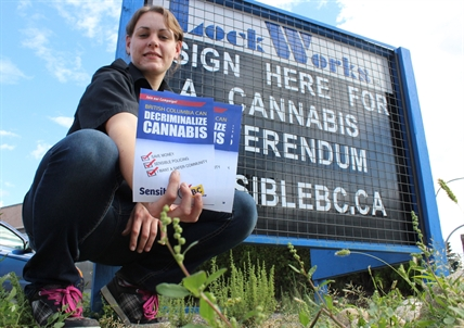 Kim Wall of LockWorks says all types are signing the petition to kickstart a referendum to change cannabis rules.