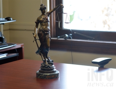 The Lady Justice statue in Hewson's judge's chambers.