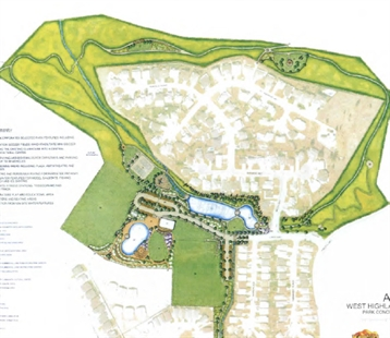 Concept drawings for West Highlands Park include requests from the public open house last year.
