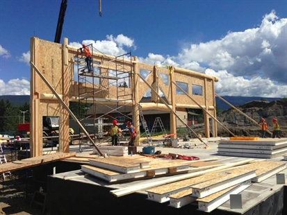 Construction is coming along on the rebuild of the Enderby Super Save. This picture was posted to Facebook Sept. 25.