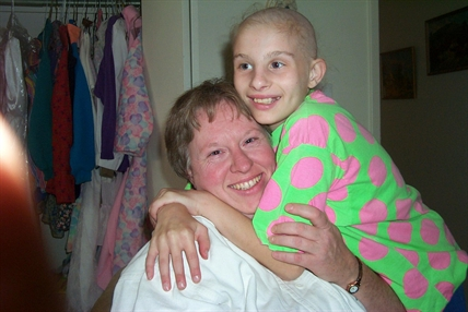 Doris Lemke and her daughter before Erika, 12, passed away from cancer.