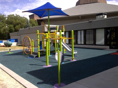 The new playground opened at the Vernon Rec Centre on Oct. 18, 2013.