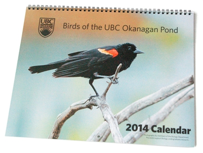 The 2014 Birds of the UBC Okanagan Pond calendar.