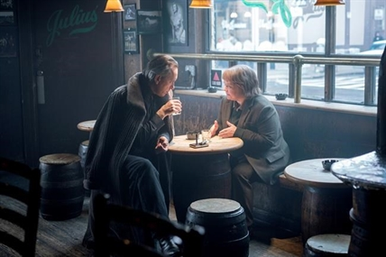 "This image released by Fox Searchlight Pictures shows Richard E. Grant, left, and Melissa McCarthy in a scene from ""Can You Ever Forgive Me?"""