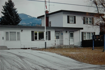 Mid-century BC RCMP Detachment with attached living quarters.