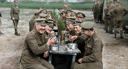 "This image released by Warner Bros. Entertainment shows a scene from the WWI documentary ""They Shall Not Grow Old,"" directed by Peter Jackson."