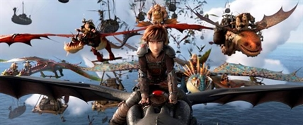 "This image released by Universal Pictures shows the character Hiccup, voiced by Jay Baruchel, in a scene from DreamWorks Animation's ""How to Train Your Dragon: The Hidden World."""