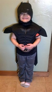This undated image released by Make-A-Wish Greater Bay Area, shows five-year-old Miles Scott dressed as batman. With the help of the Make-A-Wish Foundation and the city of San Francisco, 5-year-old Miles Scott, aka Batkid, will rescue a woman from cable car tracks and capture the evil Riddler as he robs a downtown bank. Miles, who lives in Tulelake in far Northern California, was diagnosed with leukemia when he was 18 months old, ended treatments in June and is in remission.