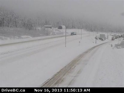 The Coquihalla Summit on Saturday, Nov. 16, 2013.