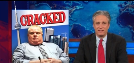 Rob Ford was a gold mine for the American television network's talk shows and satire programs in 2013.