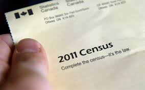 The cover of the 2011 census package is seen in Ottawa on May 5, 2011.