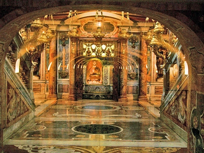 Saint Peter's tomb is a site under St. Peter's Basilica at the Vatican.