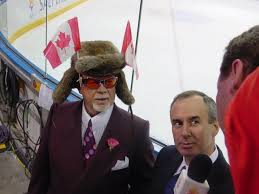 Don Cherry (left) with Ron MacLean at the 2002 Winter Olympics in Salt Lake City, Utah. Cherry has made his case to Rogers to let Coach's Corner to remain unchanged now that they have editorial control over the broadcast.